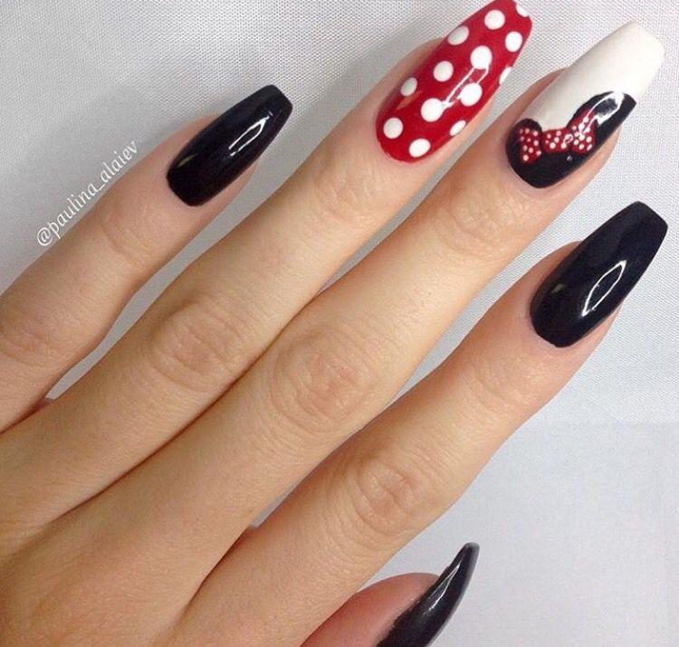 Mickey   Uñas   Pinterest   Disney nails, Nail nail and Mickey nails