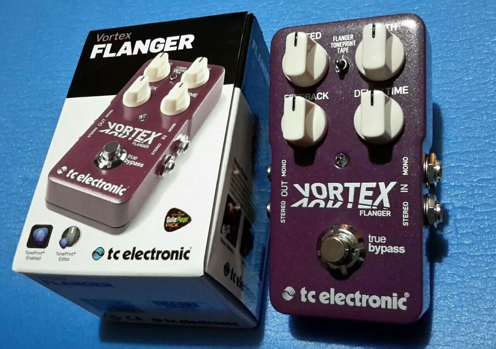 New TC Electronic Vortex Flanger Guitar Effects Pedal