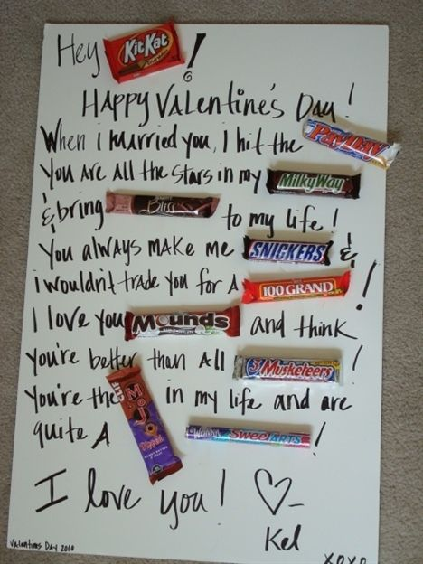 Cute Candy Card Things To Try Pinterest Valentines Candy