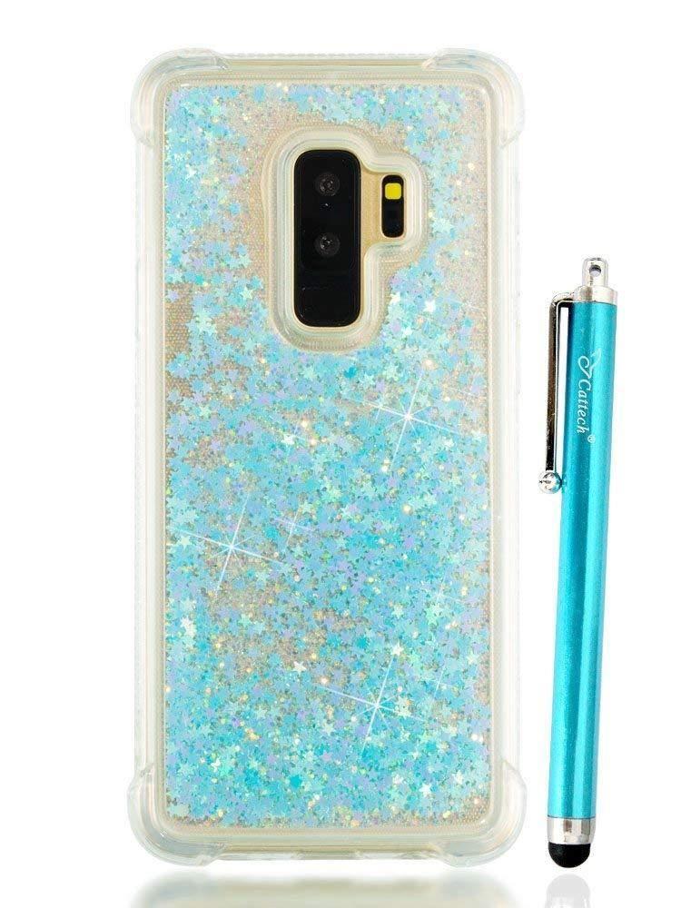 Samsung Galaxy S9 Plus Liquid Bling Glitter Shockproof Protective Case Stylus Samsung Galaxy S9 Plus Glitter Ca Samsung Galaxy 9 Glitter Case Samsung Galaxy S
