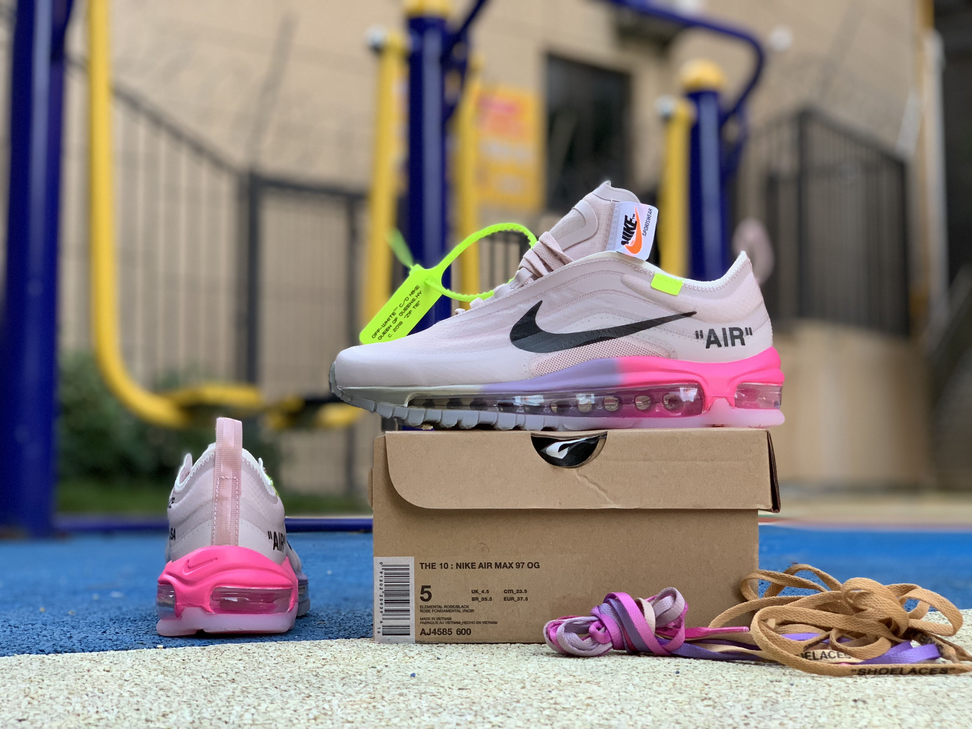 Buy Off White X Air Max 97 Serena Williams Queen Elemental Rose Aj4585 600 Nike Air Max 97 Air Max 97 Nike Air Max