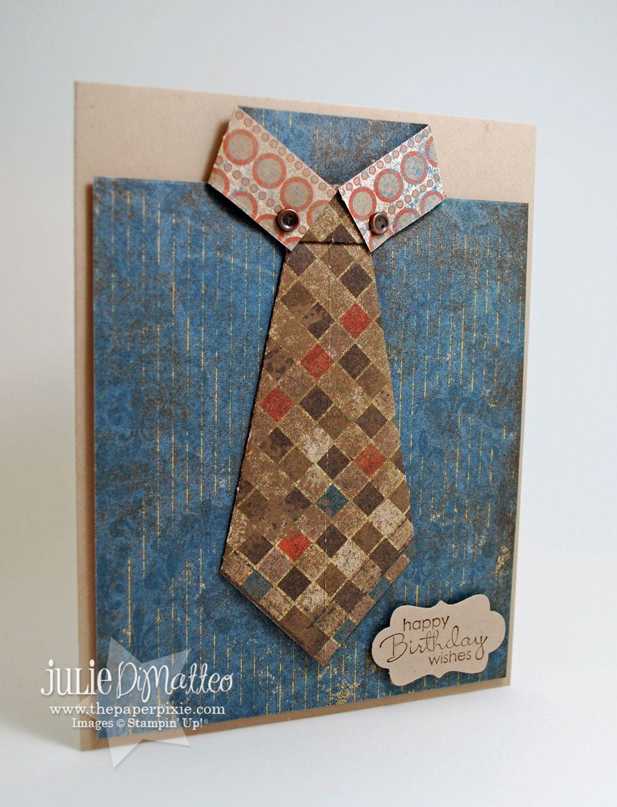 The paper pixie origami shirt u tie card another great card with