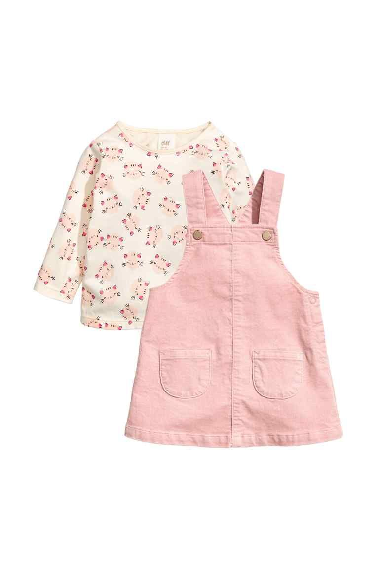 52e6c78b7309 Top and Bib Overall Dress   Future Baby Girl   Pink dresses for kids ...