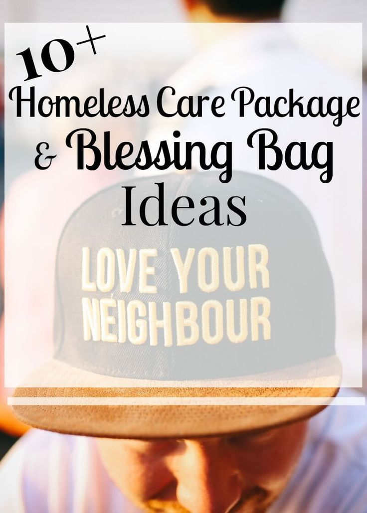 More than 10 homeless care package and blessing bag ideas for charitable giving donations.