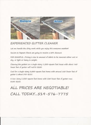 Gutter Cleaning Construction Trades Kitchener Waterloo Kijiji Cleaning Gutters Kijiji Gutter Cleaner