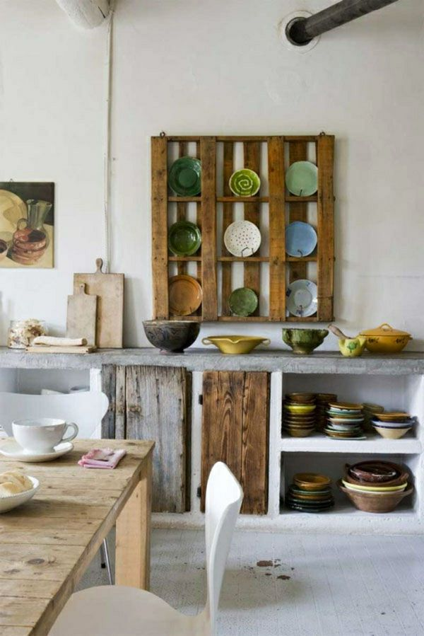 Möbel aus Europaletten - 49 originelle DIY Ideen zum Nachmachen - küchenregal selber bauen