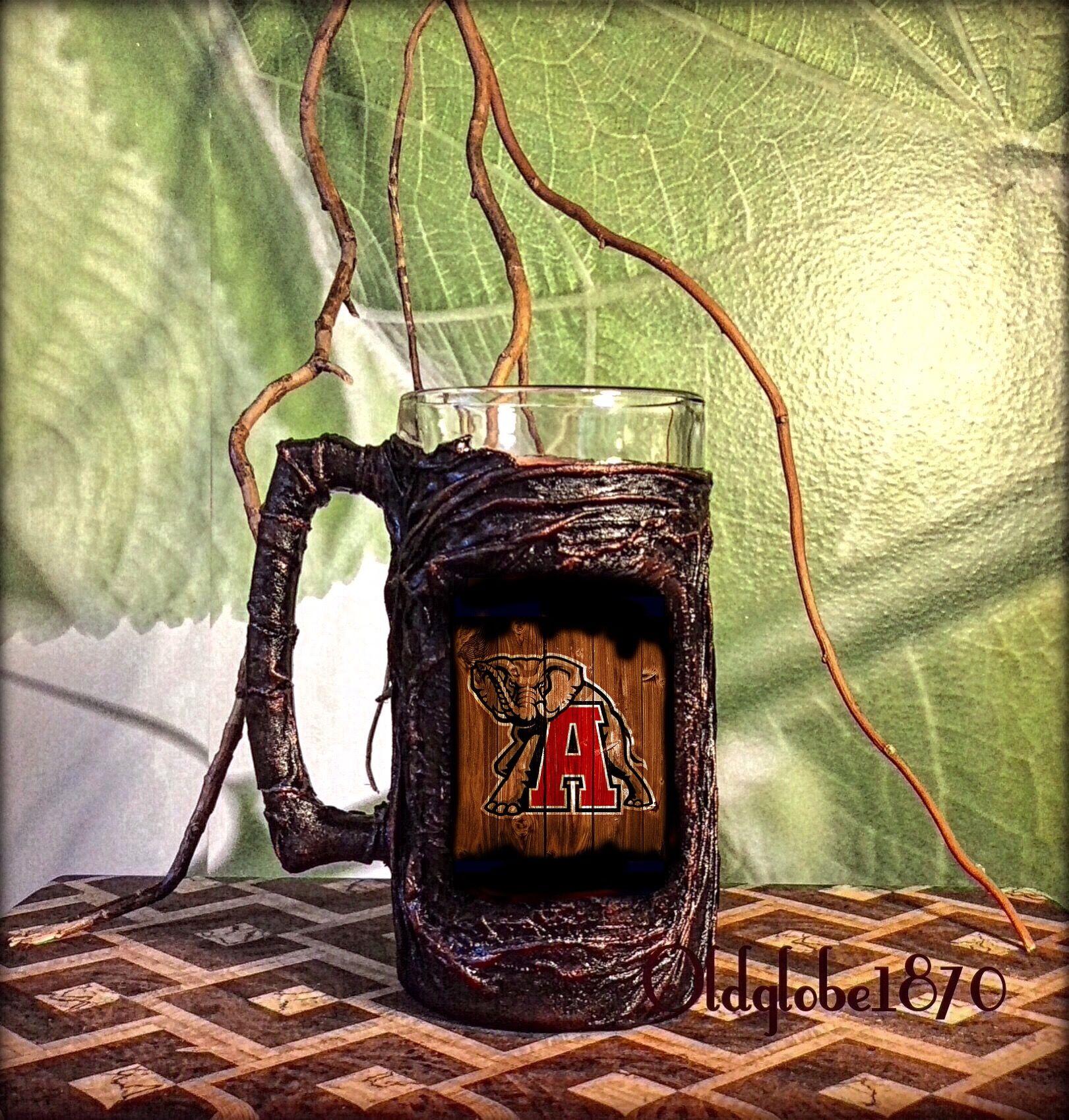 Custom Beer Mug. Gift ideas for him. Alabama gift ideas