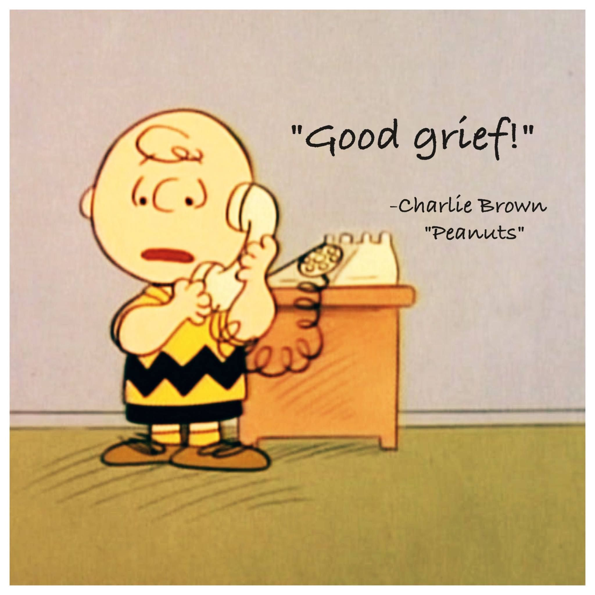 Peanuts Charlie Brown Quote Made For My Website Good Grief