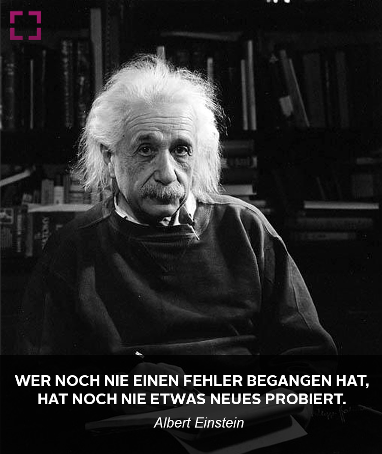 Albert Einstein Uber Fehler Im Leben Zitate Bekannter