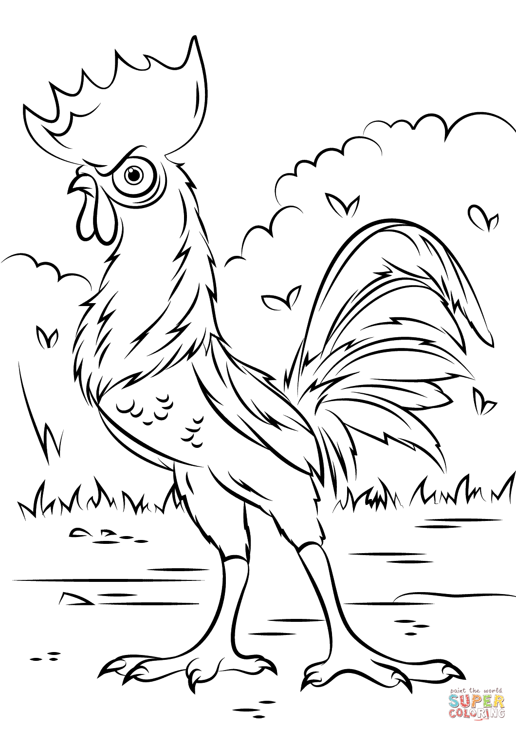 Heihei Rooster From Moana Disney Coloring Pages Printable And Book To Print For Free Find More Online Kids Adults Of