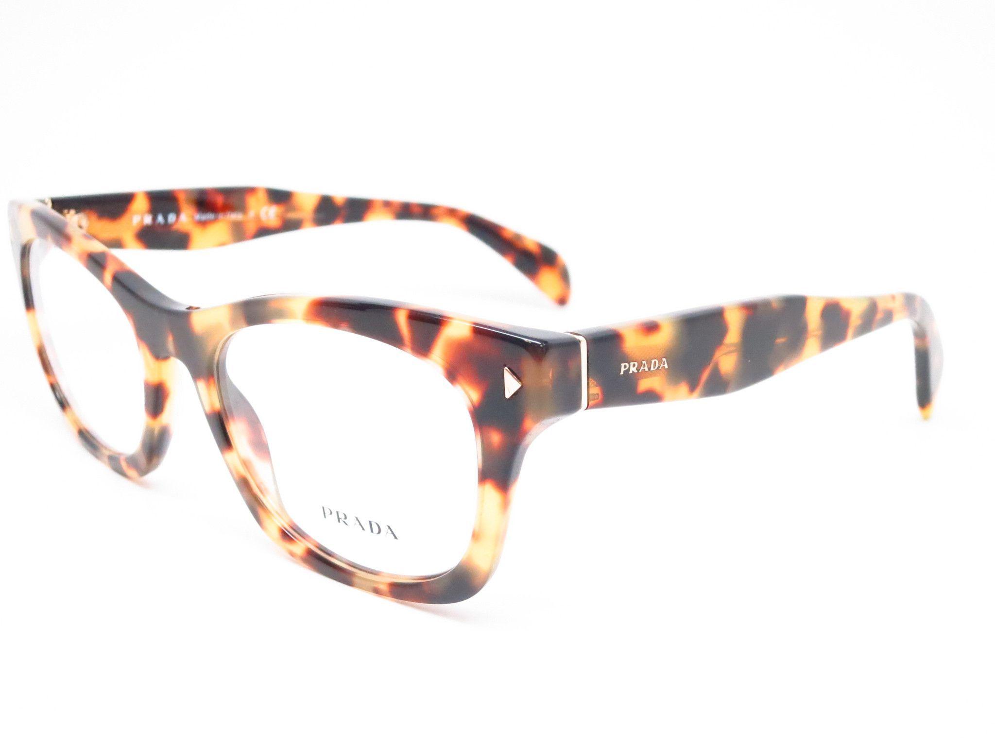 8e9daf9140a6 Prada VPR 11S 7S0-1O1 Medium Havana Eyeglasses