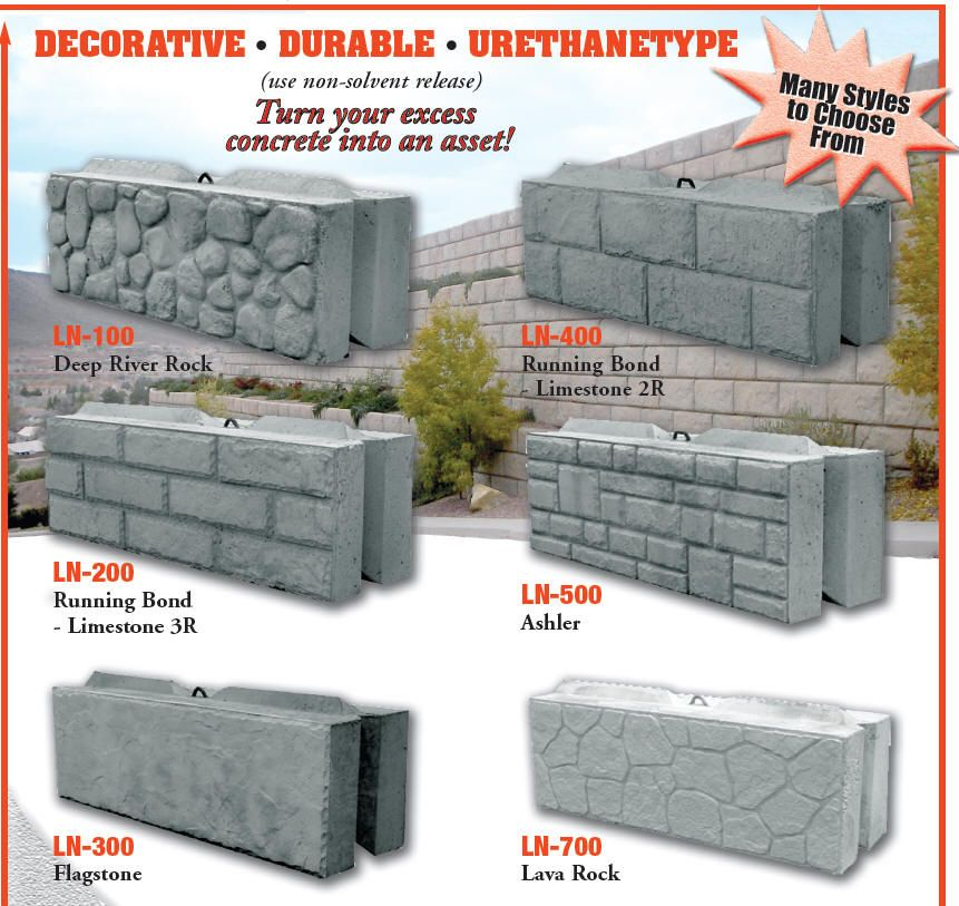 Leonard Marr Inc Block Forms Decorative Liners Wall Landscape Concrete Block Mo In 2020 Concrete Decor Decorative Concrete Walls Interlocking Concrete Blocks