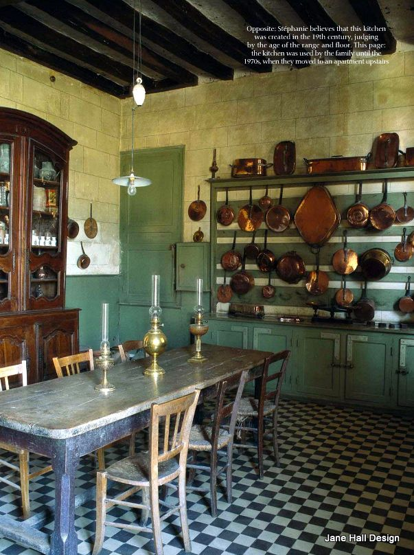 Original Kitchen Of 17th Century French Chateau From World