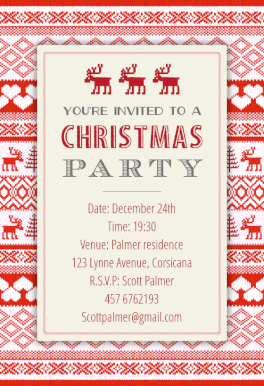 sweaters pattern free christmas invitation template greetings