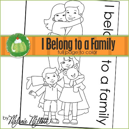 I Belong to a Family Printable Coloring Page | Crafty | Pinterest ...