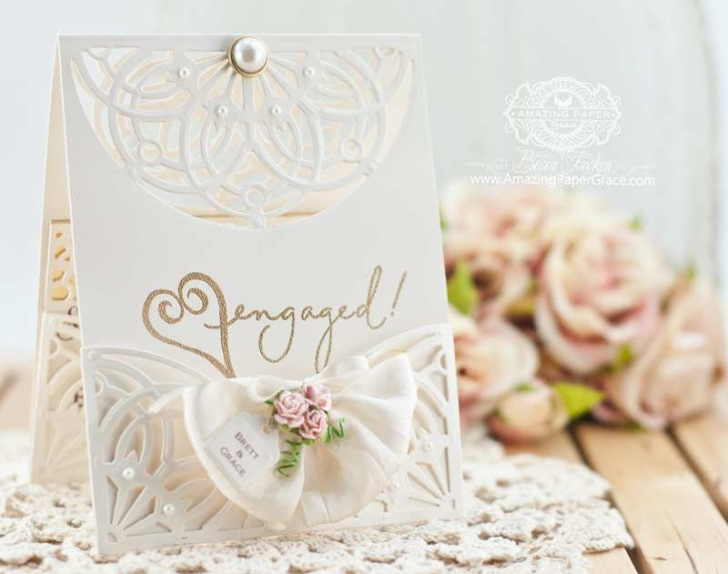 golden wedding card making ideas%0A Card Making Ideas by Becca Feeken using Spellbinders Arched Elegance and  Arched Elegance Pocket  www