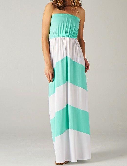 Summer Maternity Maxi Dresses Mint Color