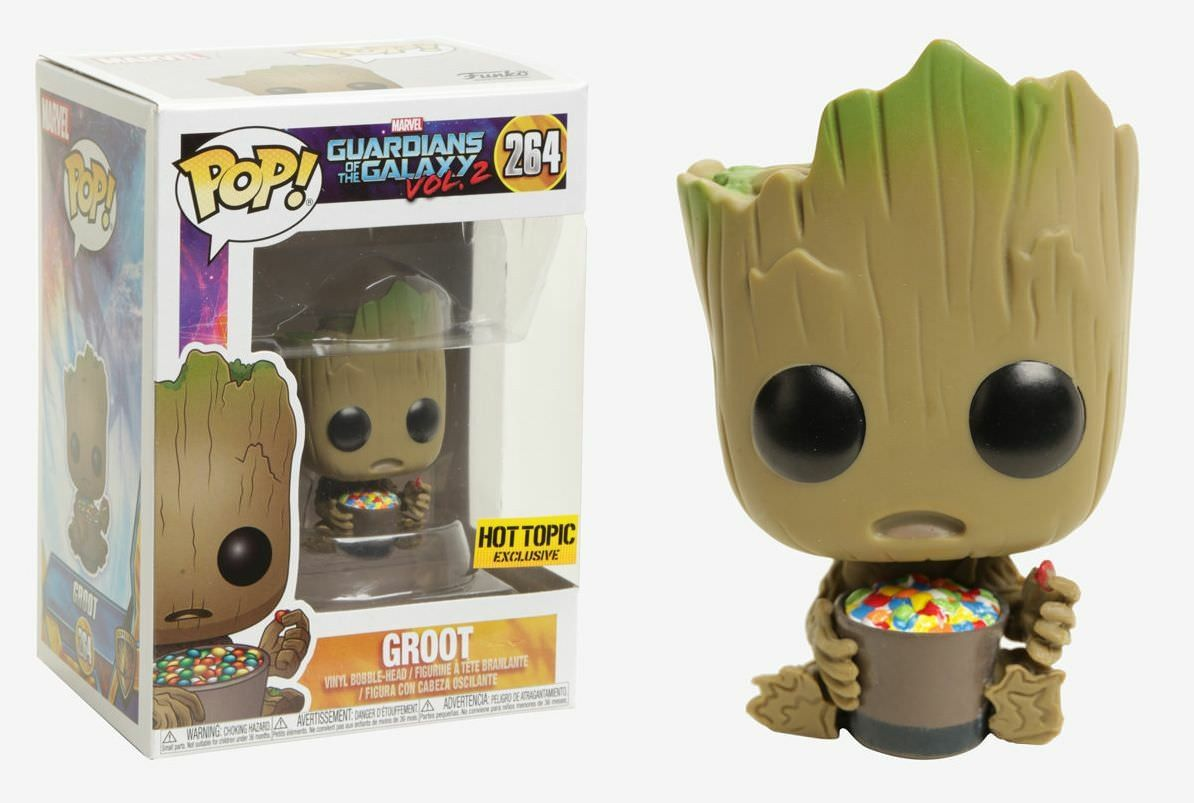 Marvel Guardians Of The Galaxy Vol 2 Funko Pop Baby Groot With Candy Hot Topic Exclusive Funko Pop Dolls Pop Marvel Pop Vinyl Figures