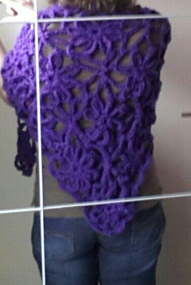 Drops sjaal in het paars