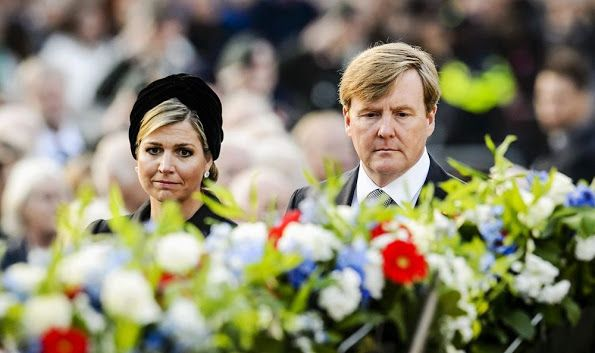 NewMyRoyals:  National Remembrance Day, Dam Square, Amsterdam, May 4, 2016-King Willem-Alexander and Queen Maxima attended the service of remembrance