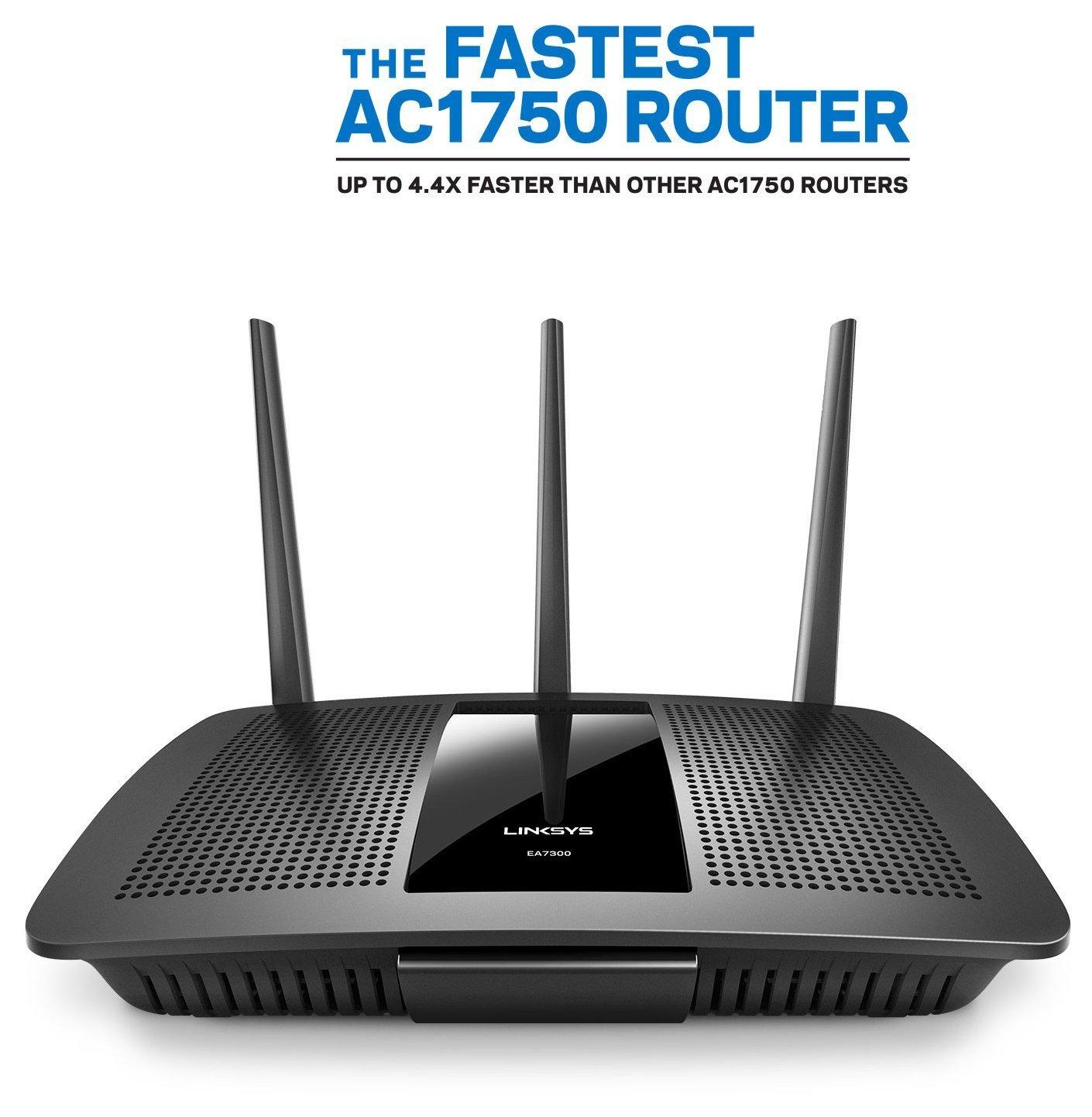 Linksys Ea7300 Max Stream Ac1750 Mu Mimo Gigabit Wifi Router Wifi Router Router Ups Wifi