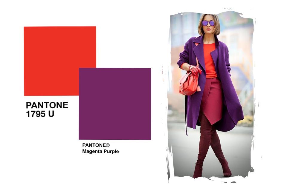 Jakie Kolory Pasuja Do Czerwonego Stylizacje Shiny Syl Blog Fashion Coat Purple