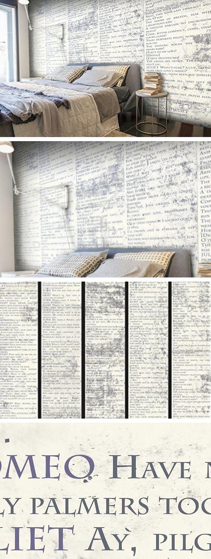 PURO TAPETE | 3 Motive zur Auswahl | Realistische Tapete ohne Rapport und Versatz | Kein sich wiederholendes Muster | 10m VLIES Tapetenrolle | Romeo und Julia Shakespeare m-A-0588-j-b