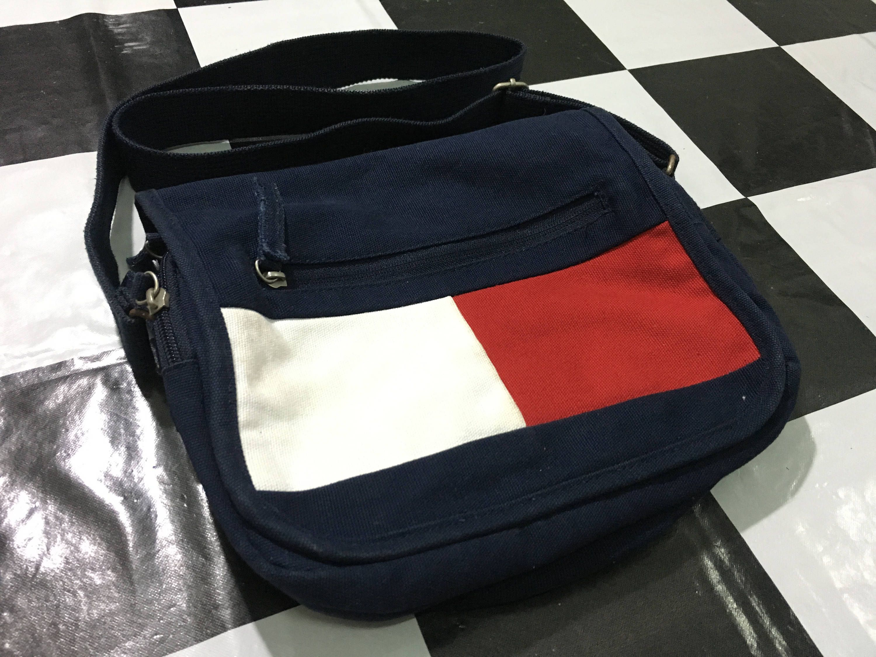 fde74b0ebe Vintage Tommy jeans bag tommy hilfiger flag logo color block crossbody bag  Excellent condition by AlivevintageShop