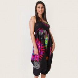 sarouel mandala noir coton du monde boutique en ligne de v tements ethniques pour femmes. Black Bedroom Furniture Sets. Home Design Ideas