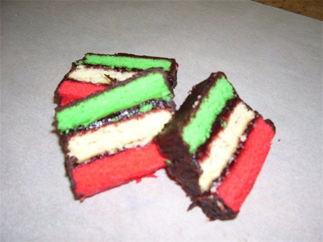 red, white and green cookie or you could change the color for different occasions!