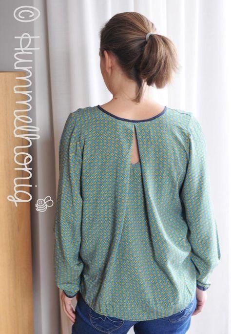 3652576b30ea31 Ebook Damen One Size Bluse Riga (Gr. 34-44) | Nähen | Nähen, Bluse ...