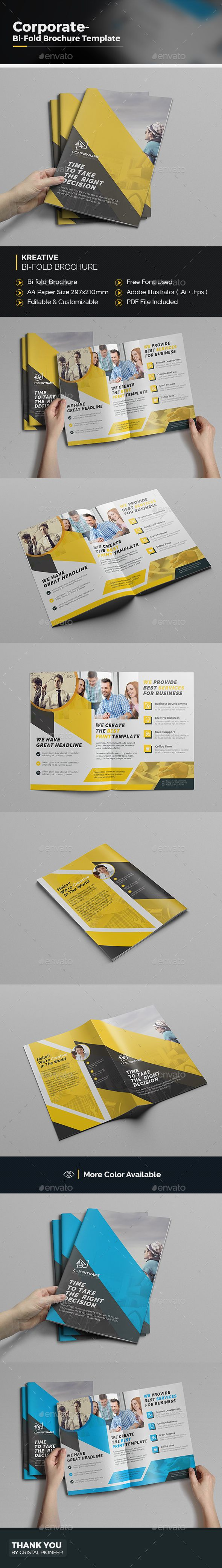 Bi fold Brochure Template | Pinterest