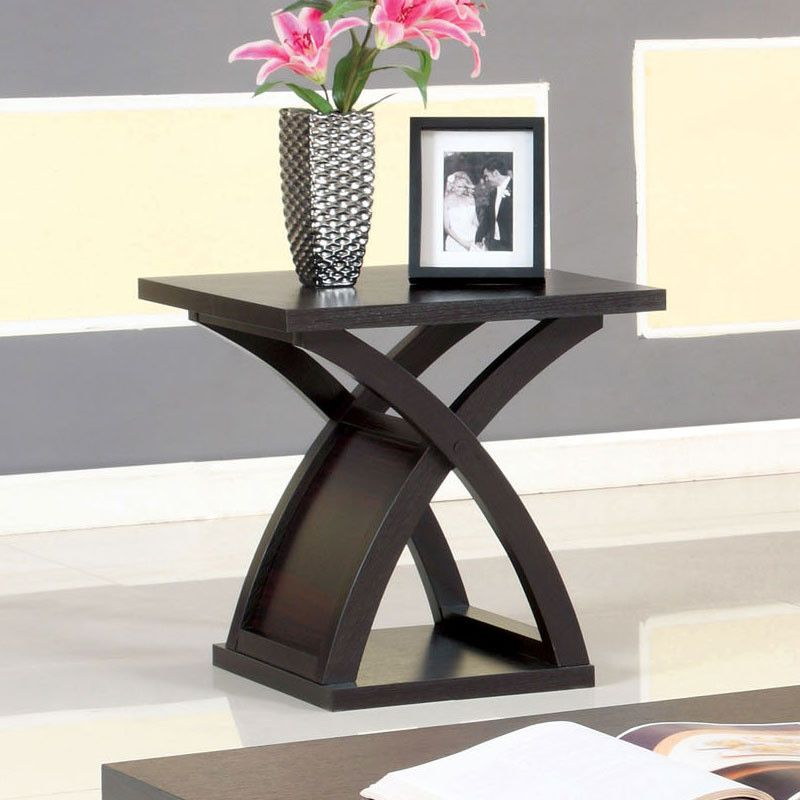 Arkely Contemporary Style Espresso End Table Contemporary style - contemporary tables for living