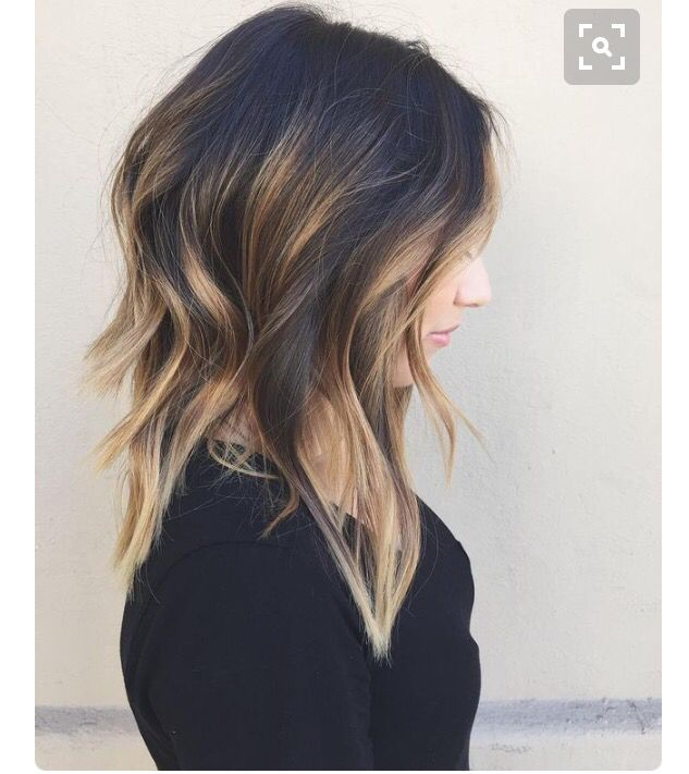 Long Concave Hair Color Balayage Medium Length Hair Styles Balayage Hair