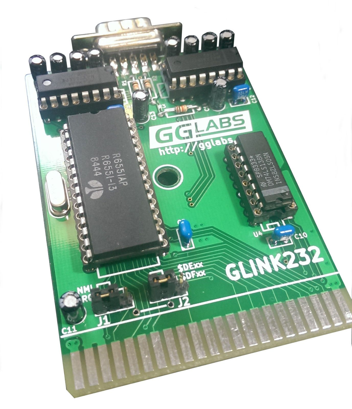 Commodore 64 128 GLink232 RS232 Serial Card, 6551 UART