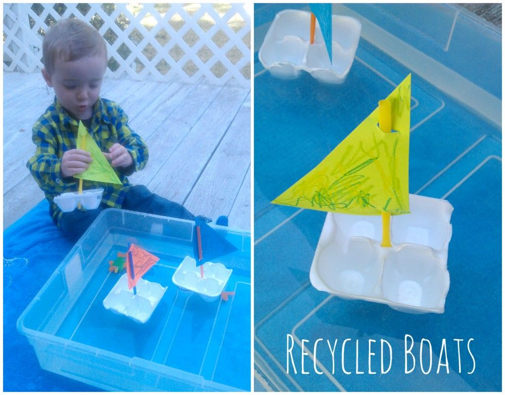 Warm Weather Activity For Toddlers Kids Simple Boats Made