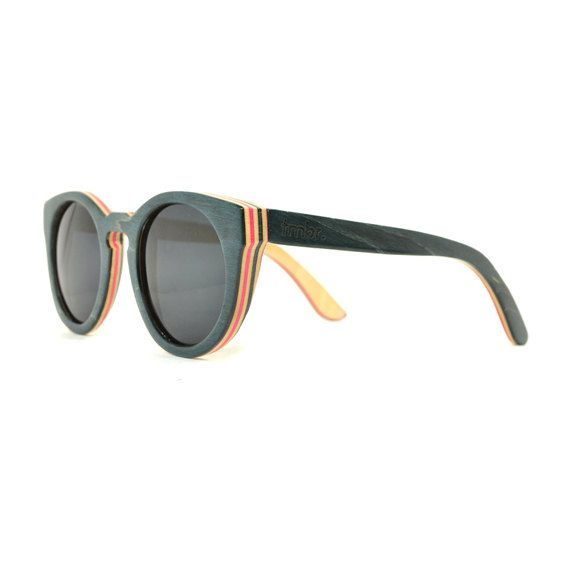 a48329bbccb61 Black Rounded Maple Wood Sunglasses