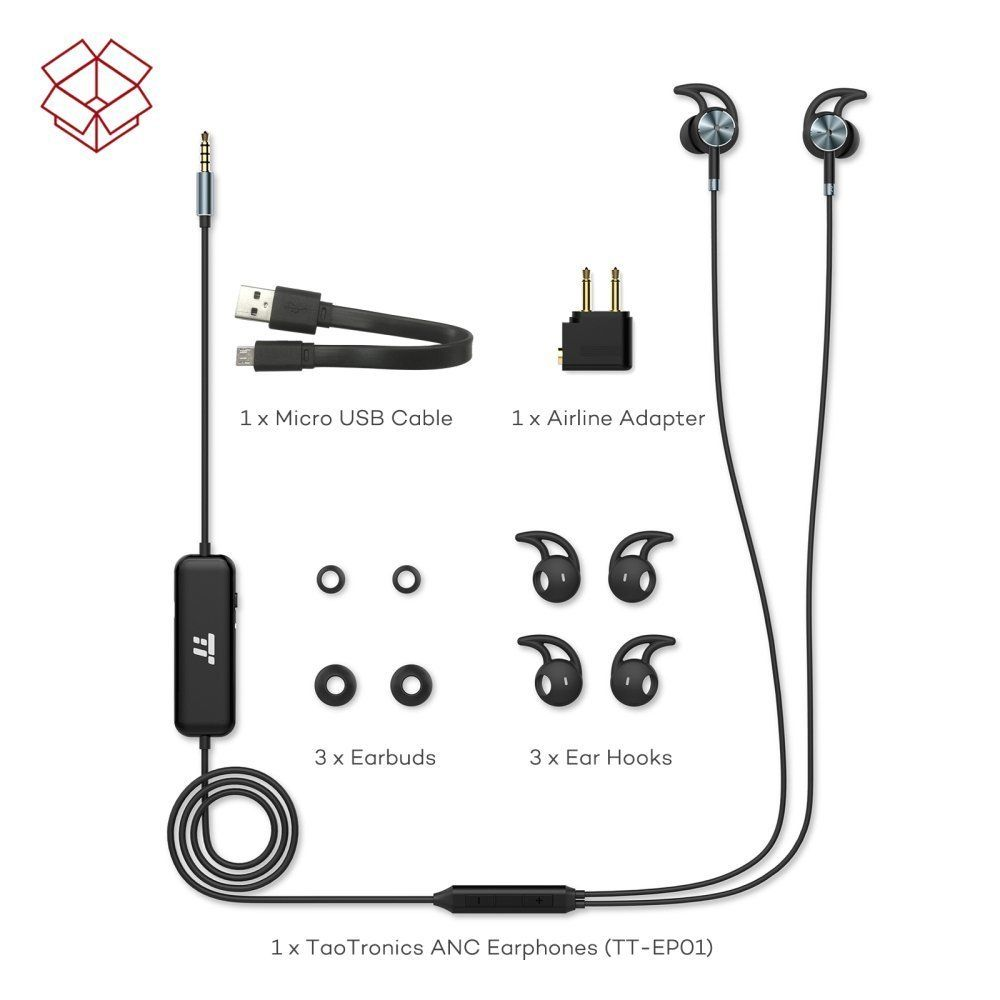 Corded Headset Wiring Diagram Building Noise Canceling Headphones Microphone Taotronics Active Cancelling Wired Earphones In Eartaotronics