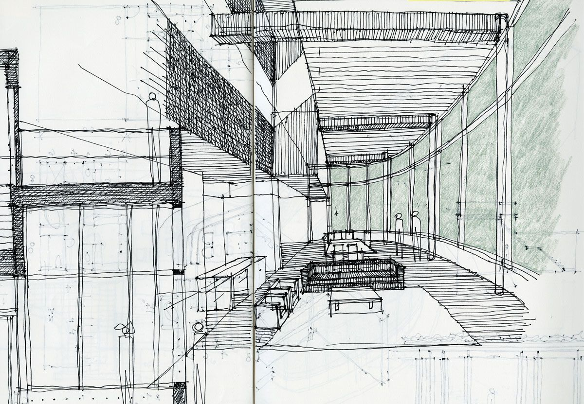 Sketch Architecture Green Cerca Con Google Architectural