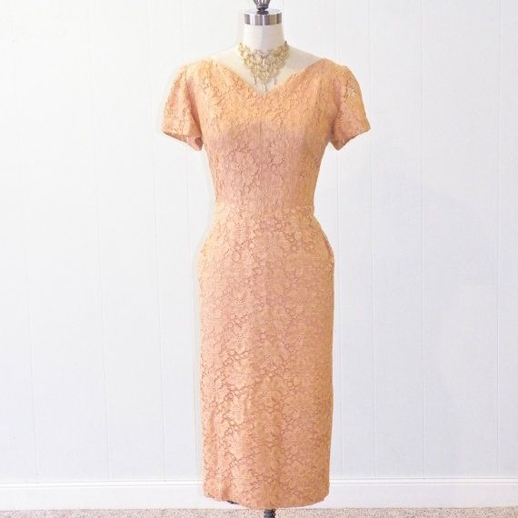 For Your Mama Vintage Tail Dress Peach Lace Mother Of The Bride D Pleated Mildred Walldren Designer