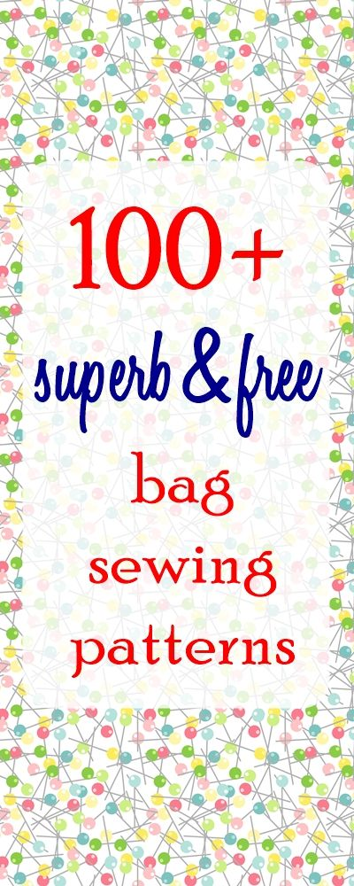 Sew a Bag (100+ free bag patterns and tutorials | sewing | Pinterest ...