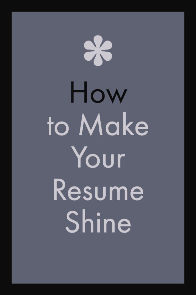 How to make your resume stand out Employment Pinterest Resume
