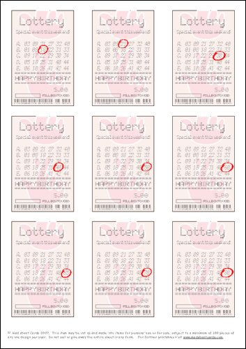 lottery ticket maker