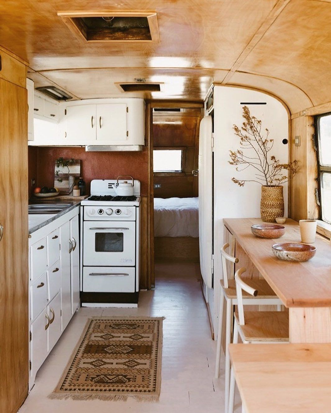 "Photo of FORESTBOUND on Instagram: ""Seeing how others create a home on a small footprint is so very intriguing to me. I absolutely love this trailer by @kellybrownphoto and…"""