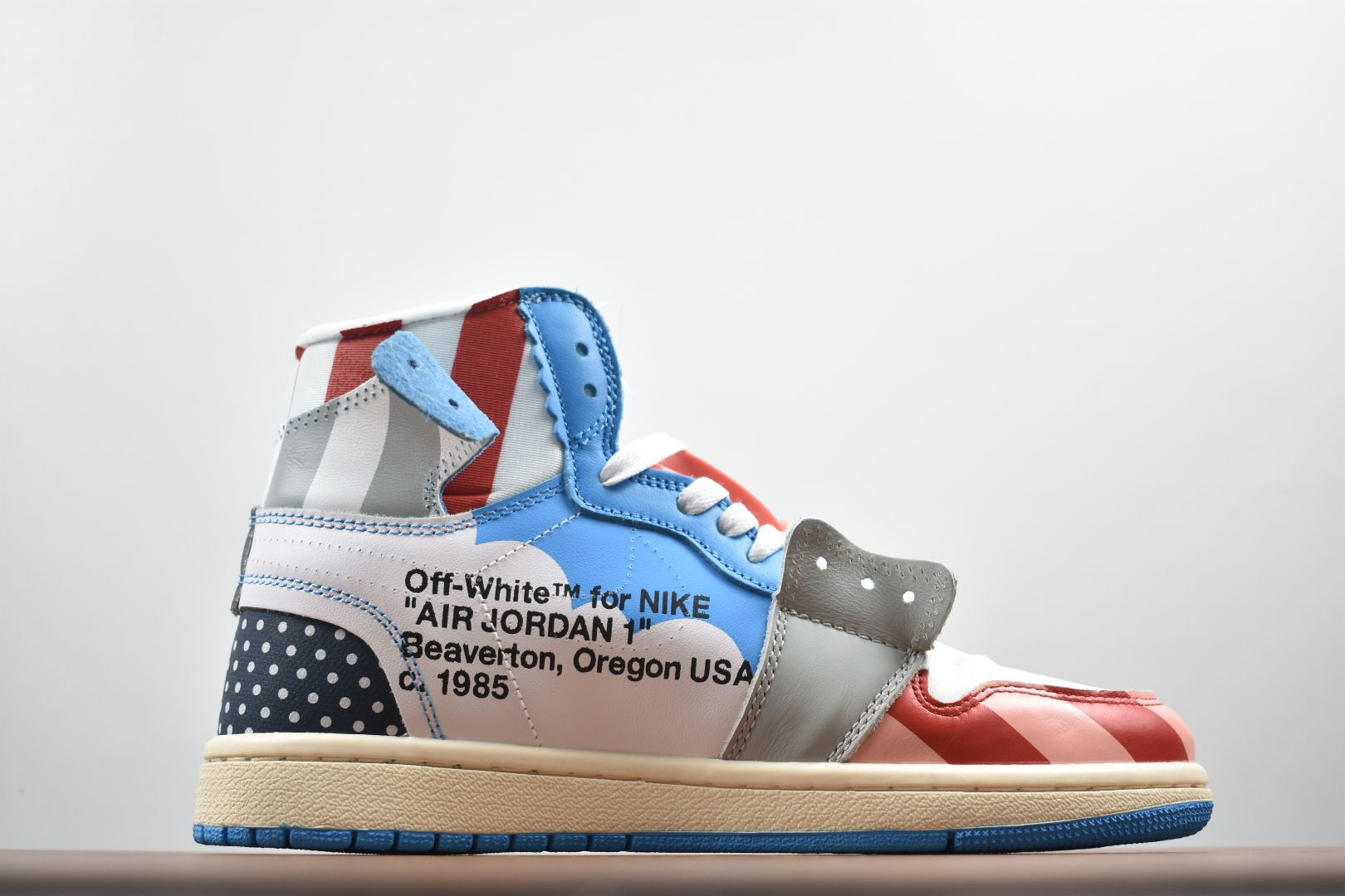 Parra x Off-White x Air Jordan 1 High Custom AA3834-108 For Sale 546a11bfc