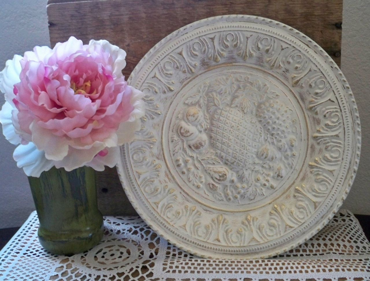 Fruit Picture Wall Plate Shabby Chic Decor