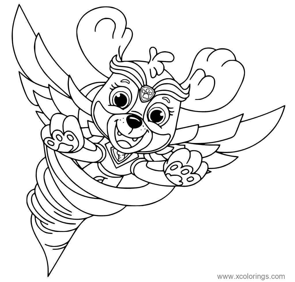 Skye From Paw Patrol Mighty Pups Coloring Pages Paw Patrol Coloring Paw Patrol Coloring Pages Skye Paw Patrol