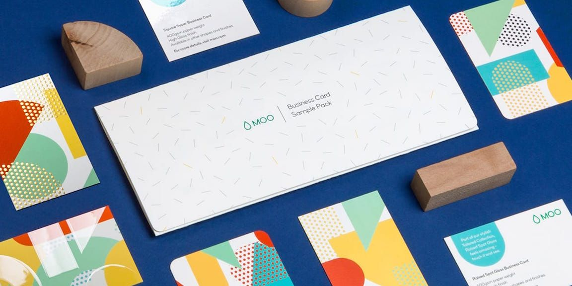 Visitenkarten Probepäckchen Quadratische Visitenkarten