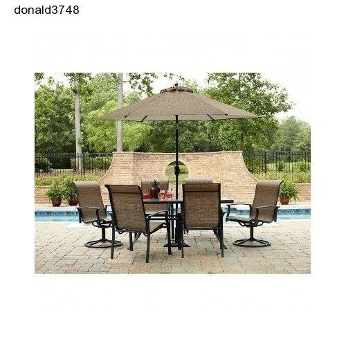 Garden Oasis Harrison Chaise Patio Set Garden Lawn Swivel Chairs