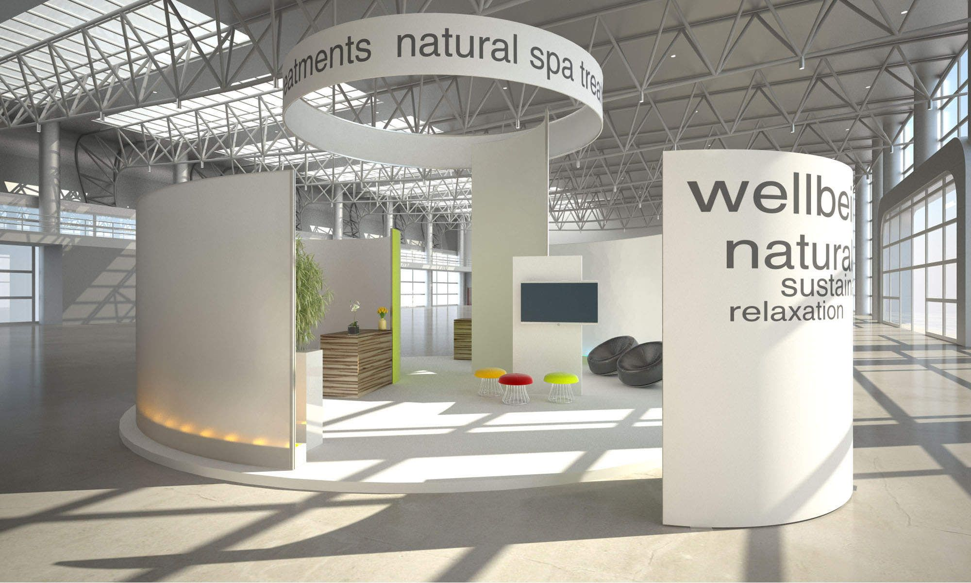 Fabric Exhibition Stand Examples : Tension fabric exhibition stands unibox